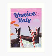 Venice Italy travel poster Art Print