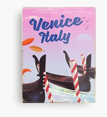 Venice Italy travel poster Metal Print