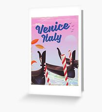 Venice Italy travel poster Greeting Card