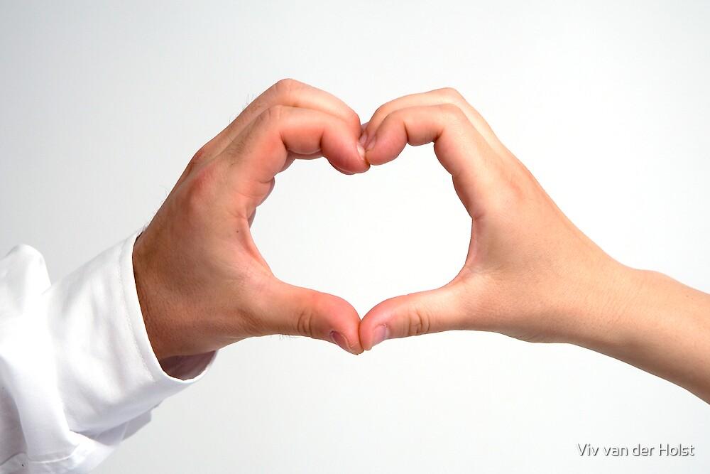 2 Hearts beat as 1 by Viv van der Holst