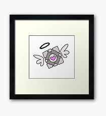 Angelic Companion Cube Portal Framed Print