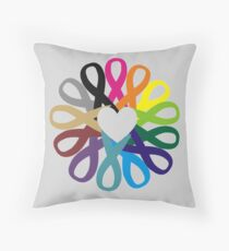 Awareness Ribbons Profits for Charity (please read description!!) Throw Pillow