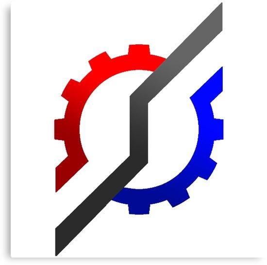 """Kamen Rider Build Logo"" Canvas Prints By Jake Ex-Aid"
