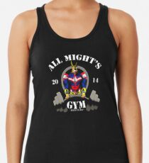 all might gym Racerback Tank Top
