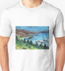 Ocean view - seascape monoprint with watercolors T-Shirt