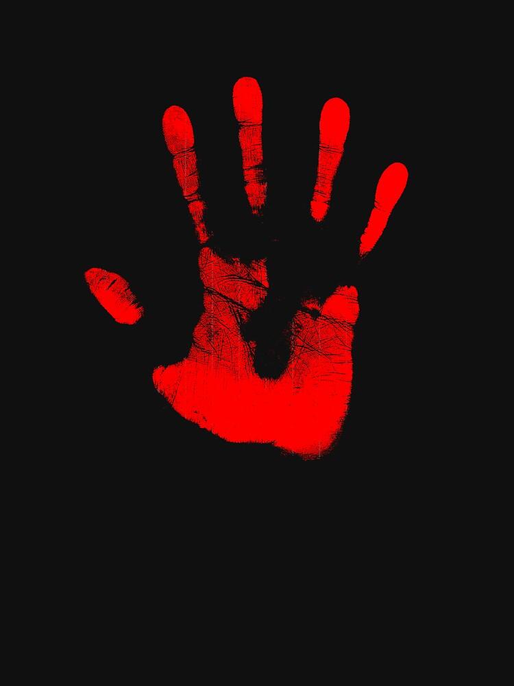 Rote Rechte Hand von larrymcfarland