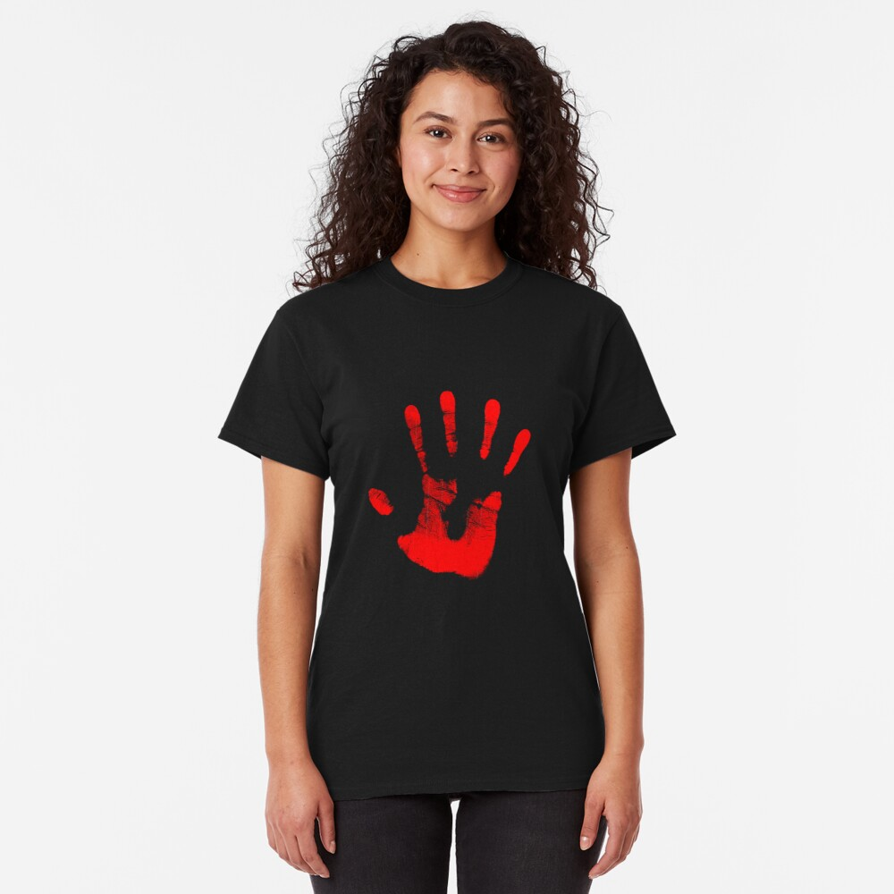 Rote Rechte Hand Classic T-Shirt