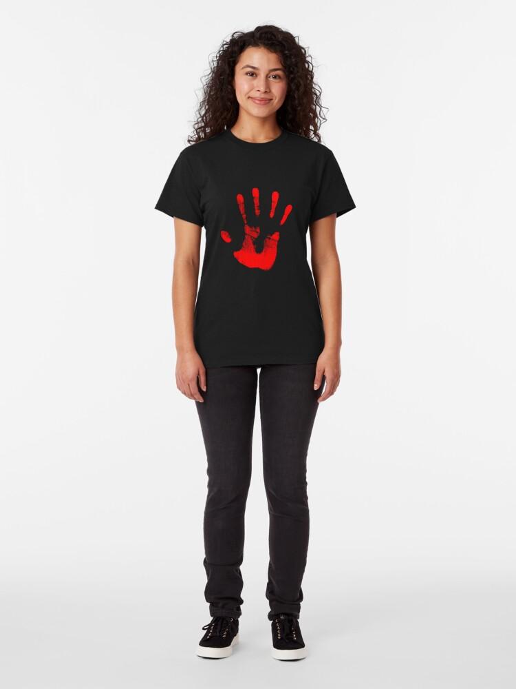Alternative Ansicht von Rote Rechte Hand Classic T-Shirt