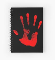 Red Right Hand Spiral Notebook