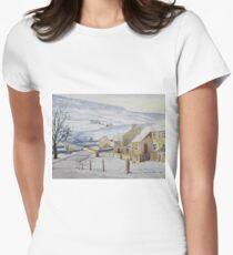 Burnsall in Winter, Yorkshire Dales Women's Fitted T-Shirt