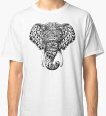 Camiseta clásica Cabeza de elefante adornado