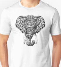 Ornate Elephant Head Unisex T-Shirt