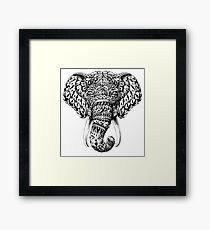 Ornate Elephant Head Framed Print