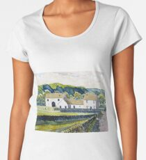 White Farmhouse in the Yorkshire Dales Women's Premium T-Shirt