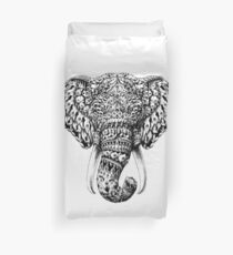 Ornate Elephant Head Duvet Cover
