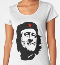 CORBYN, Comrade Corbyn, Leader, Labour Party, Politics, Black on RED Women's Premium T-Shirt