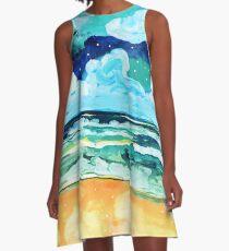 Simple Seascape X A-Line Dress