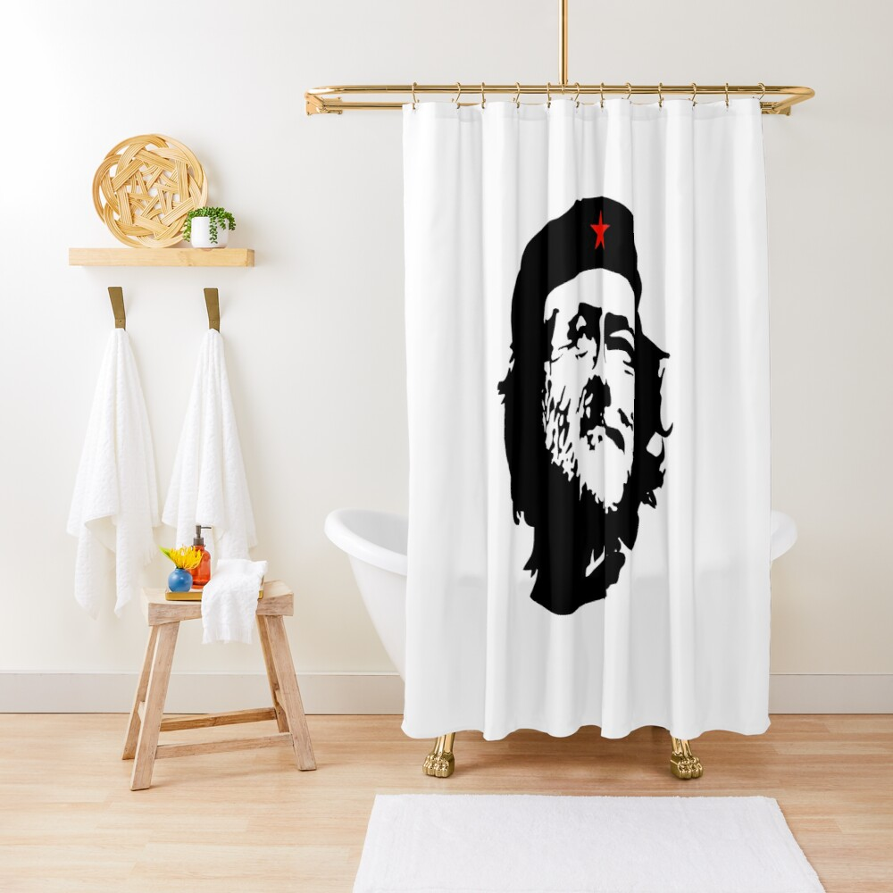 CORBYN, Comrade Corbyn, Election, Leader, Politics, Labour Party, Black on White Duschvorhang