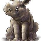 Rhino Baby by arievanderwyst
