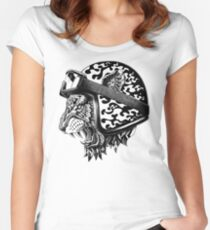 Camiseta entallada de cuello redondo Yelmo de Tigre