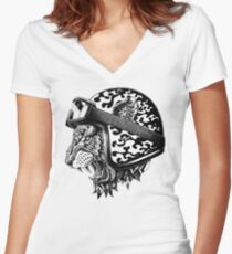 Tiger Helm Women's Fitted V-Neck T-Shirt