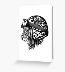 Tiger Helm Greeting Card