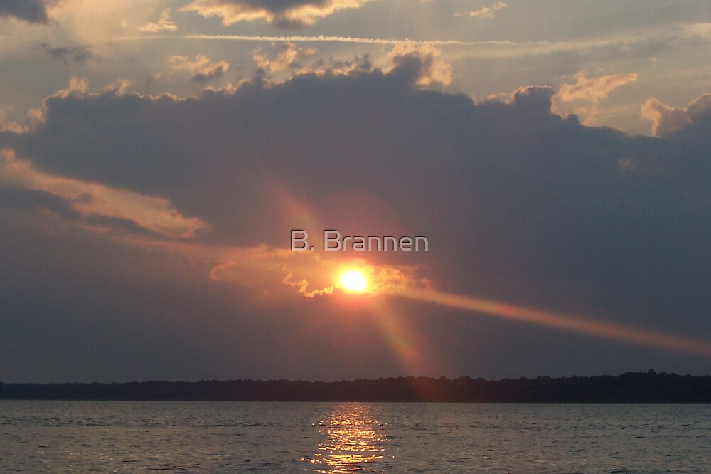 Ocean at Sunset by B. Brannen