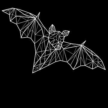 Geometric Flying Fox Bat by dzdn