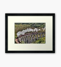Jacobite Steam Train, Glenfinnan Viaduct, Scotland. Framed Print