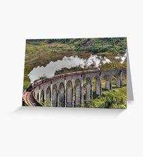 Jacobite Steam Train, Glenfinnan Viaduct, Scotland. Greeting Card