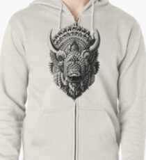 Bison Zipped Hoodie
