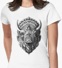 Bison Women's Fitted T-Shirt