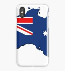 Australia map with flag iPhone Case/Skin