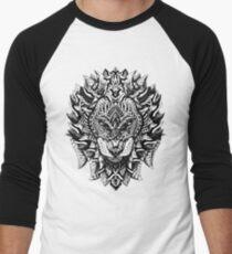 Verzierter Löwe Baseballshirt für Männer