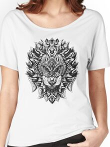 Ornate Lion Women's Relaxed Fit T-Shirt