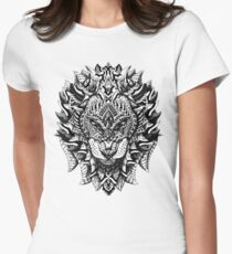 Ornate Lion Women's Fitted T-Shirt