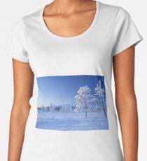Snow covered trees Women's Premium T-Shirt