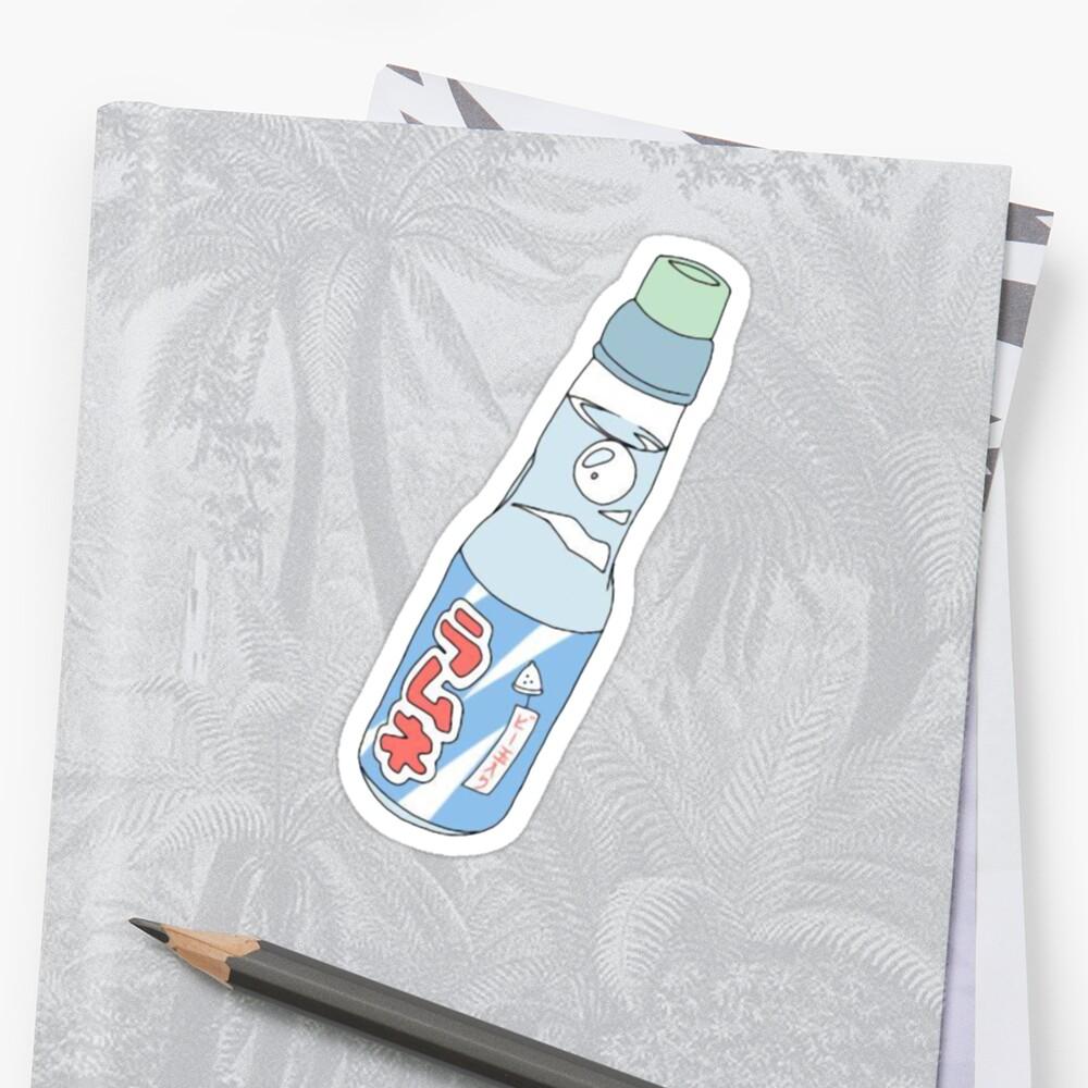 PegatinaKawaii Soda Drink (* color de fondo personalizable) Delante