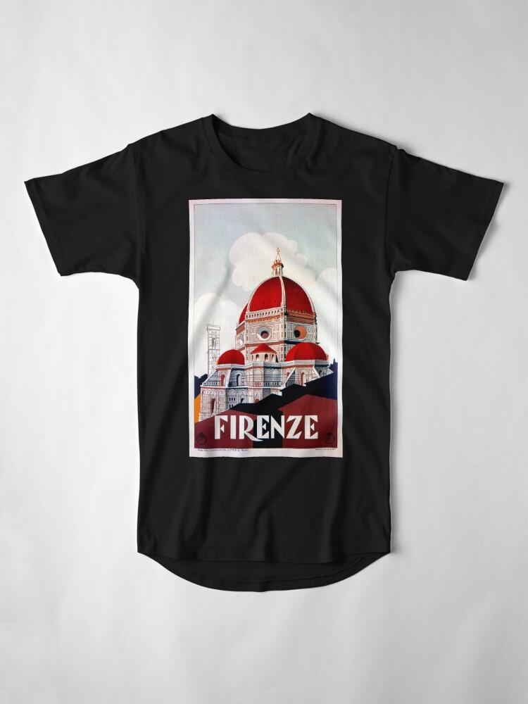 Alternative Ansicht von Florence Firenze 1920er Jahre italienische Reiseanzeige, Duomo Longshirt