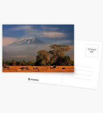 Kilimanjaro in early morning light, Amboseli National Park, Kenya, Africa. Postcards