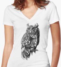 Camiseta entallada de cuello en V Owl 2.0