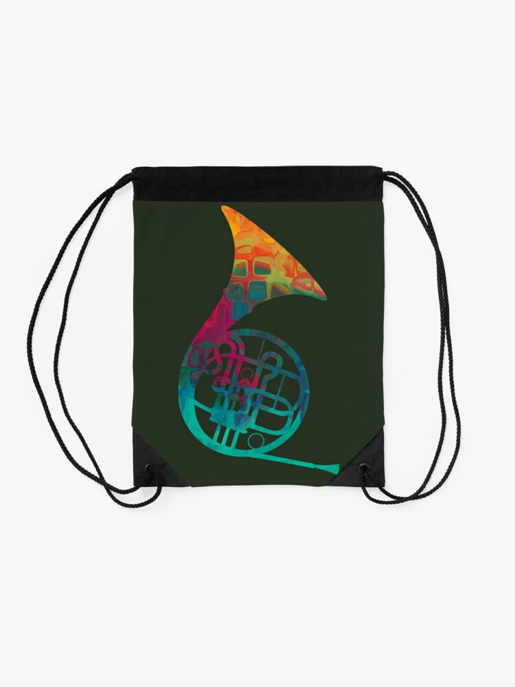 Alternate view of French Horn Drawstring Bag