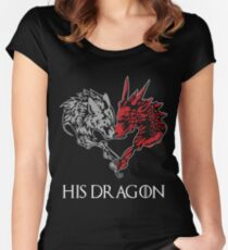 HIS DRAGON HER WOLF Women's Fitted Scoop T-Shirt