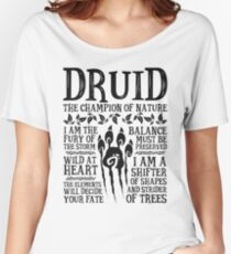 DRUID, THE CHAMPION OF NATURE - Dungeons & Dragons (Black) Women's Relaxed Fit T-Shirt