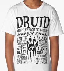 DRUID, THE CHAMPION OF NATURE - Dungeons & Dragons (Black) Long T-Shirt