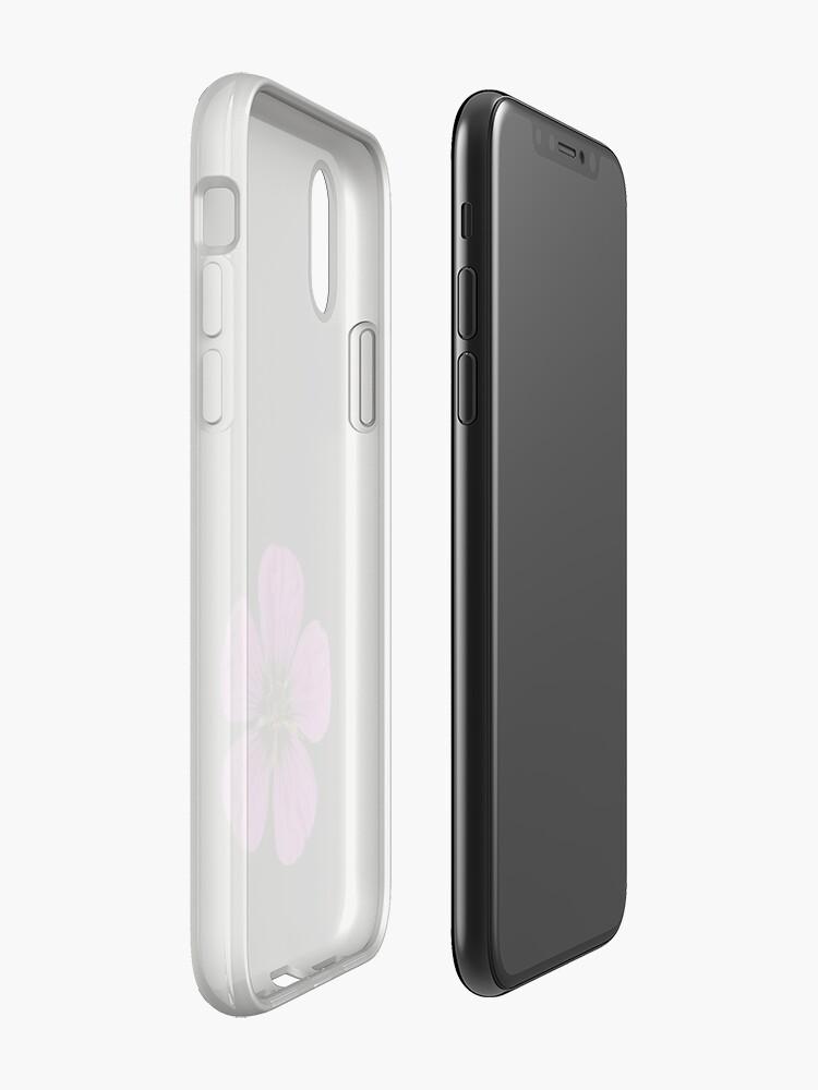 Alternate view of Pink Geranium flower iPhone Case & Cover