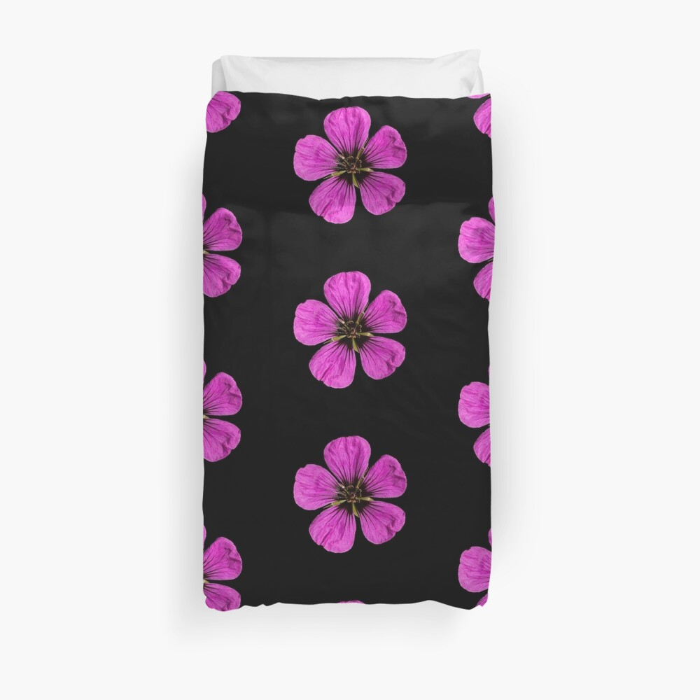 Pink Geranium flower Duvet Cover