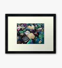 Cluster of Dice Framed Print