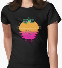 Happy Sunset Women's Fitted T-Shirt