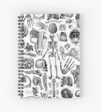 Cuaderno de espiral Anatomía Humana Blanco Print